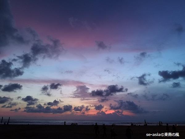 バリ-66ビーチ-sunset
